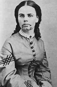 Olive Oatman was 13 when she traveled with her family to ...