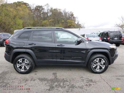 jeep trailhawk black 2015 jeep cherokee trailhawk 4x4 in brilliant black