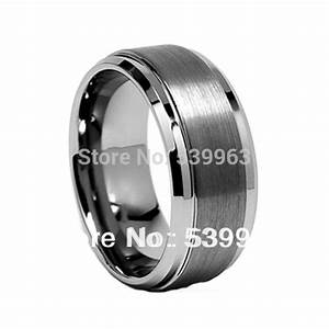 tungsten carbide grooved brushed metal engagement ring With funky mens wedding rings