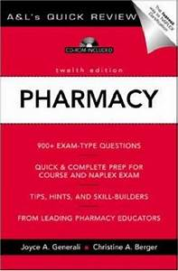 A U0026l U0026 39 S Quick Review Pharmacy  900 Plus Questions And