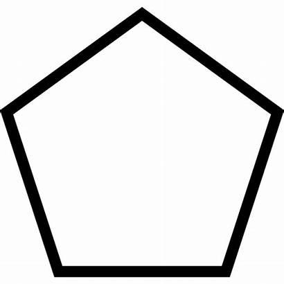 Shapes Pentagon Shape Outline Geometric Figure Icon