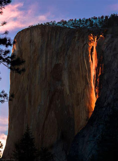 photos firefall when yosemite waterfall looks like
