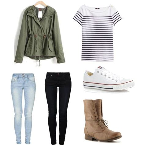 Back to school outfit. Dressy with dark denim casual with light. | High school outfits ...