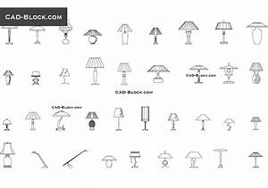 Table lamps cad blocks free download for Floor lamp cad block
