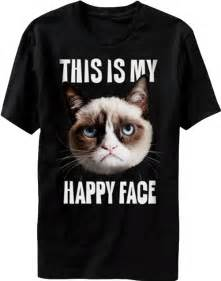 grumpy cat t shirt this is my happy grumpy cat t shirt official new ebay