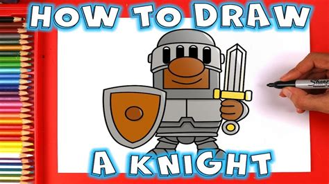 How To Draw A Cartoon Knight In Shining Armour With A