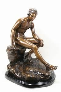 F Barbedienne Fondeur Neoclassical Bronze Statue Hermes