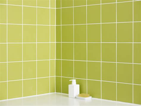 9 x 9 ceramic tiles bring green color to your bathroom with tiles