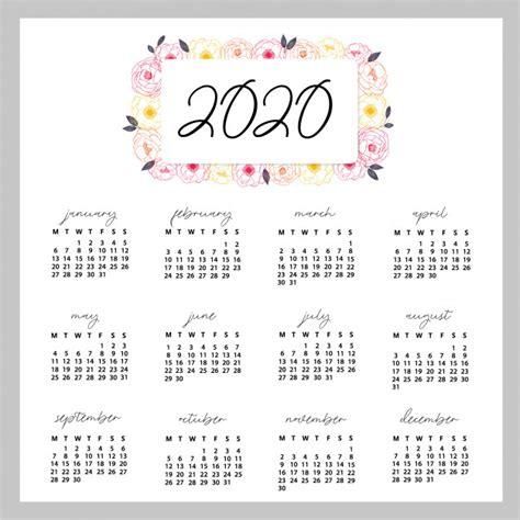 foto de Premium Vector 2020 calendar design ready to print