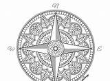 Compass Coloring sketch template