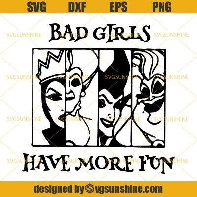 bad girls   fun svg witches disney svg villains