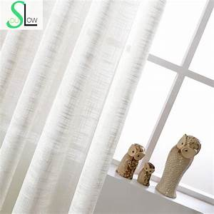 White cotton texture american country style decorative for Sheer curtains texture