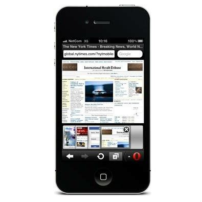 opera mini 6 for 2 and iphone 4 available in app store
