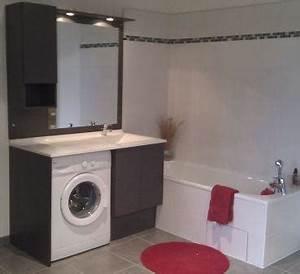 solution des formes okiban With lave linge dans salle de bain norme