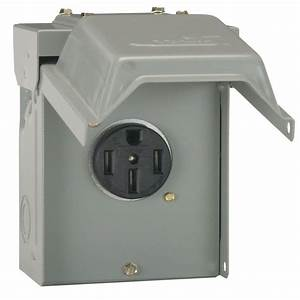 GE 50 Amp Temporary RV Power Outlet-U054P - The Home Depot