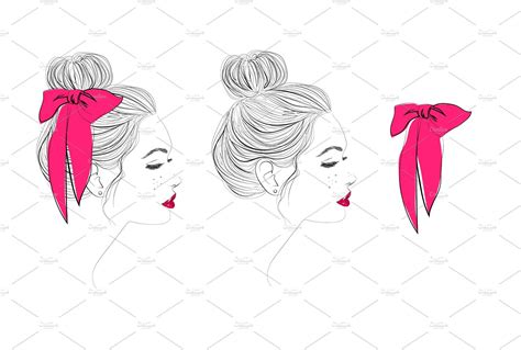Born to be wild svg,. Top bun vector hairstyle drawing | Drawings, How to draw ...