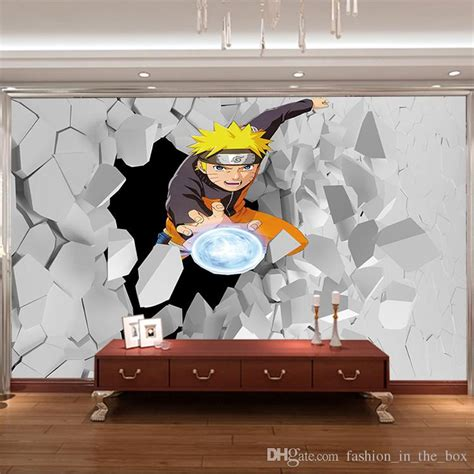 japanese anime wall mural  naruto photo wallpaper boys kids bedroom custom cartoon wallpaper