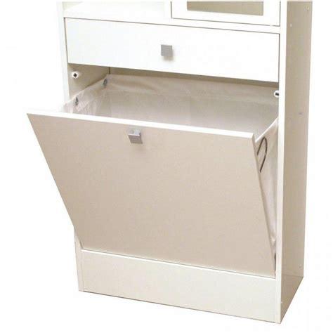 Bac à Linge Meubles Salle De Bain Meubles Et Rangements Armoire Et Bac 224 Linge Blanc Mat Avec Placards Et