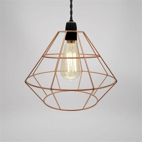 modern industrial black white copper metal cage wire