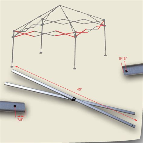 quik shade weekender elite    canopy side truss bars replacement parts ebay