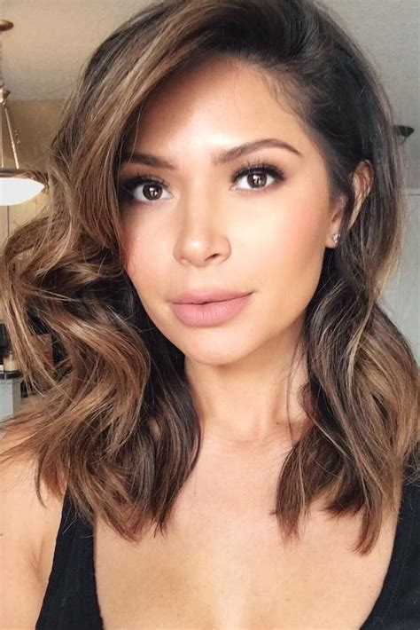 Brown Black Hair Color Ideas by Highlights Lowlights For Brown Hair Balayage Hair