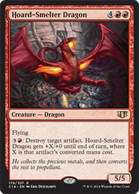 hoard smelter dragon nm x4 commander 2014 mtg magic cards