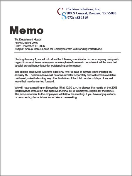 what is a business memo en191f12s28yiming what the difference between the