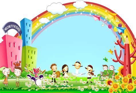 kindergarten cartoon poster background cartoon posters
