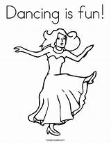 Coloring Dance Sing Dancing Jazz Dancer Ballet Popular Built California Twistynoodle Usa Coloringhome sketch template