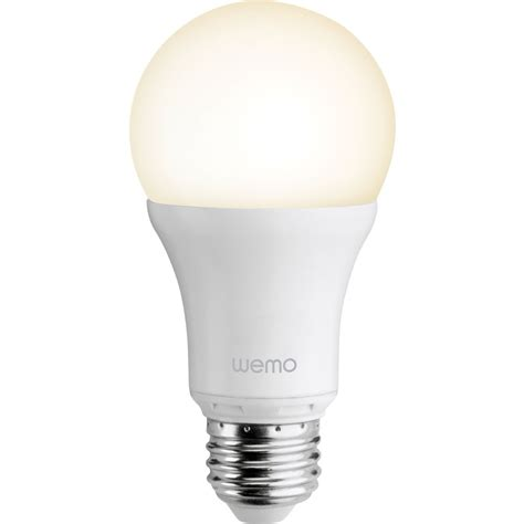 wemo light bulb belkin wemo smart led bulb f7c033 b h photo