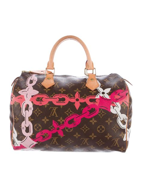 louis vuitton  monogram chain flower speedy