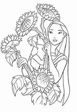 Pocahontas Coloring Pages Clips Movie sketch template