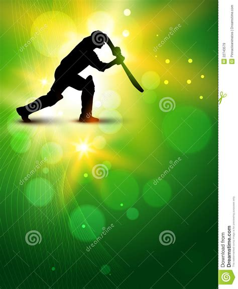 vector cricket background royalty  stock images