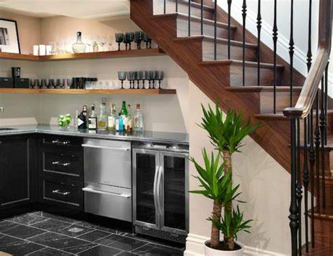 deco maison cuisine ouverte quel meuble sous escalier choisir archzine fr