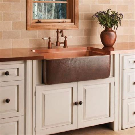farmhouse copper kitchen sink copper farmhouse sink forest 7146