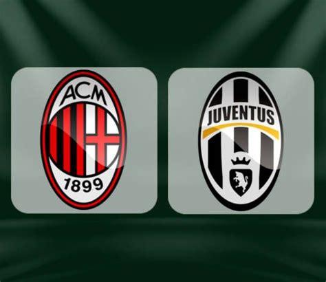 Juventus Vs Ac Milan Head To Head