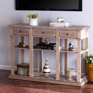 Southern enterprises fortenbury console table in weathered for In home furniture enterprise