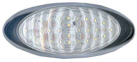 oval white led lights 8 quot oval led white backup light with chrome bezel