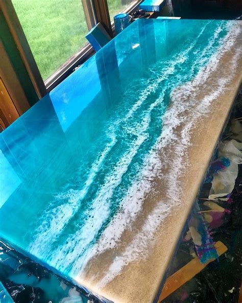 fabulous  epoxy resin wood tables amazing diy