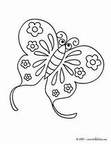 Coloring Butterfly sketch template