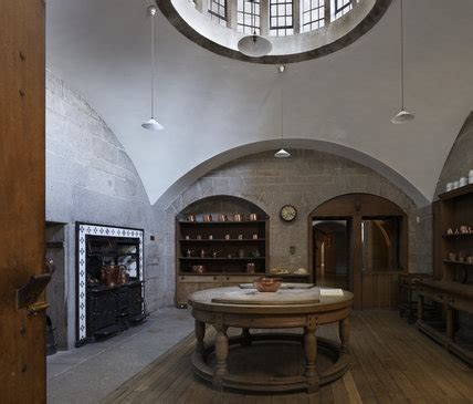 The Kitchen at Castle Drogo, Devon, with the circular