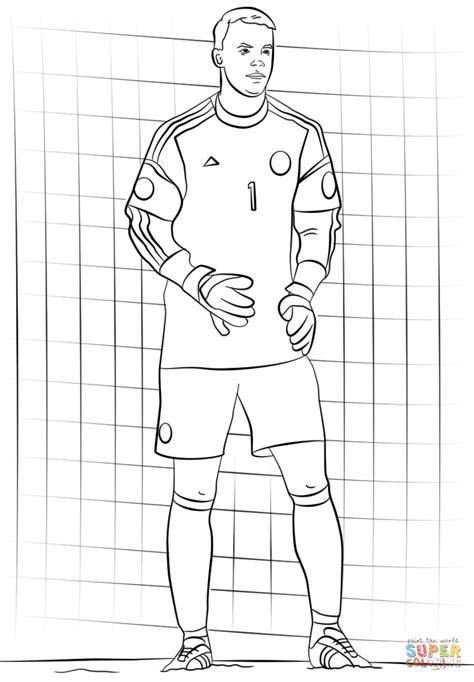 Kleurplaat Ronalda by Manuel Neuer Kleurplaat Gratis Kleurplaten Printen