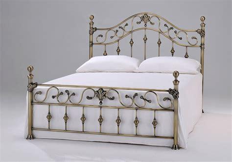 elgin antique brass bed frame