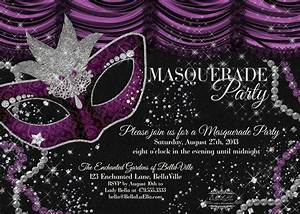 Bella luella masquerade parties for spring and summer for Masquarade invitation