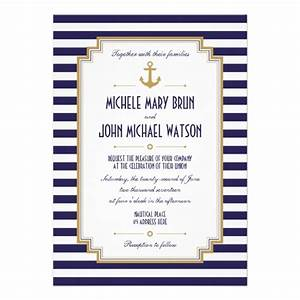 stylish nautical wedding invitation personalized invite With nautical wedding invitations online