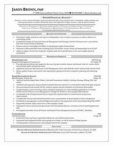 best financial analyst job resume sample With sample resume of a financial analyst