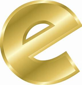 clipart effect letters alphabet gold With gold letter e