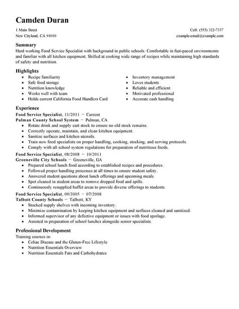 How To List Awards On Resume by Food And Beverage Resume Template For Microsoft Word