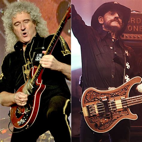 queens brian  pays loving tribute  motorheads lemmy