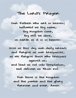 Image result for lord's prayer